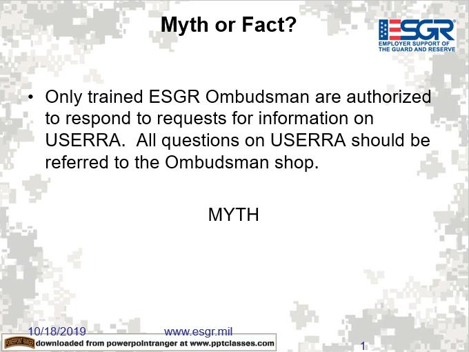 USERRA Myth Or Facts