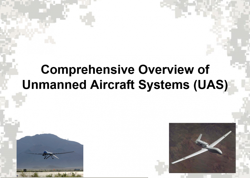 Unmanned Aerial Systems (UAS) briefing