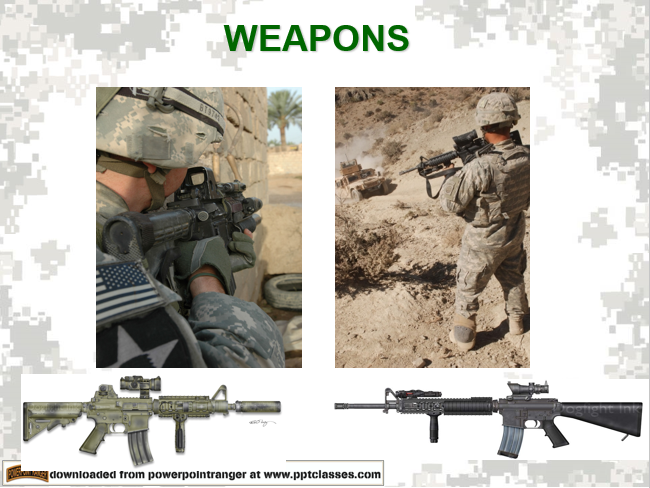 weapons, Weapons, Sights and Munitions Classes, PowerPoint Ranger, Pre-made Military PPT Classes, PowerPoint Ranger, Pre-made Military PPT Classes