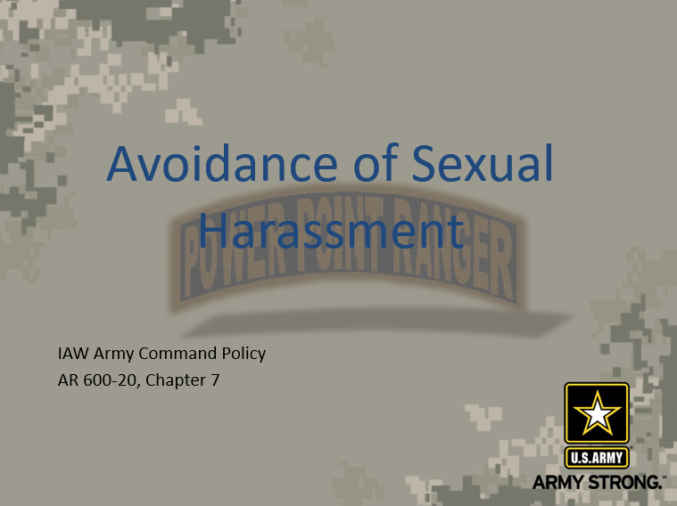 A power point class on Avoidance of Sexual Harassment