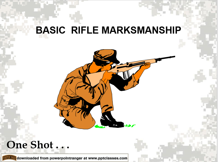 A powerpoint class on basic rifle markmanship