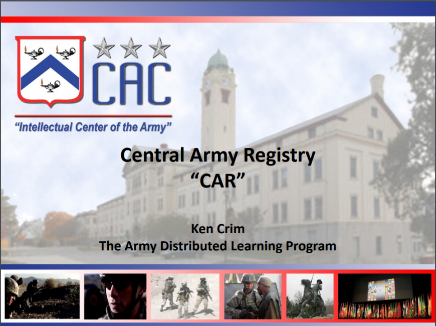 Central Army Registry pdf classe