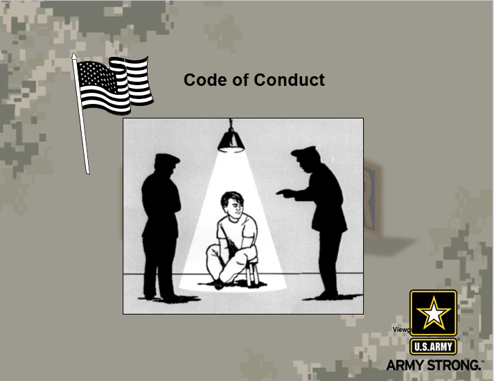 A power point class on Code of Conduct and Survival