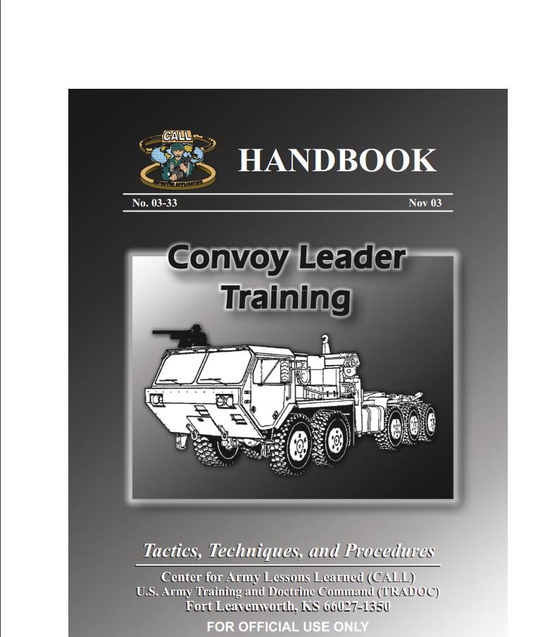 A handbook on convoy leaders training