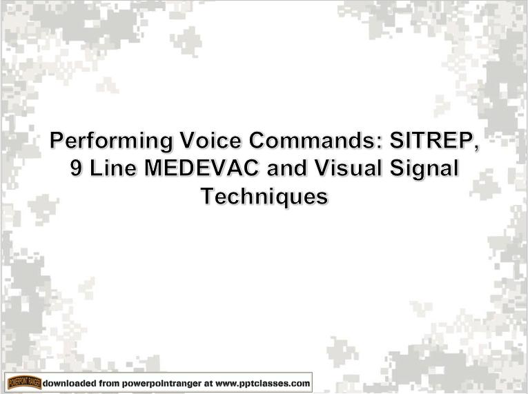 Perform Voice Commands power point class