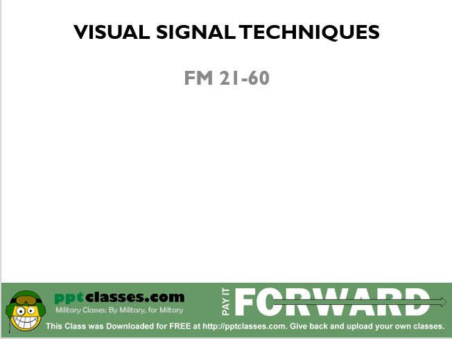 A power point class on visual signal techniques