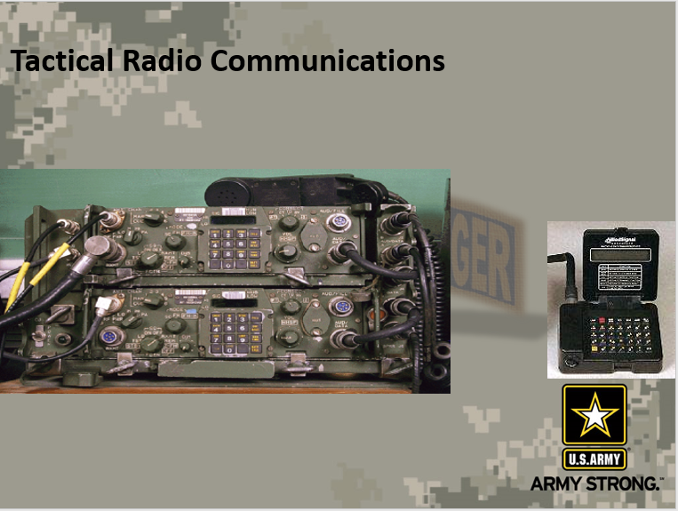 A power point class on tactical communication radio