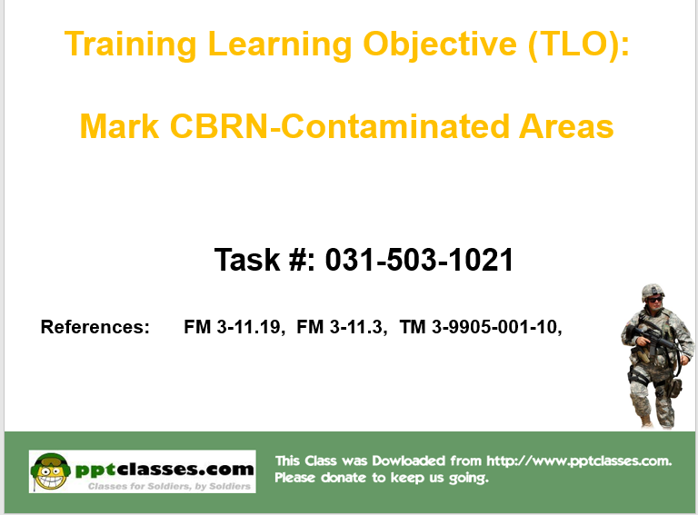 A power point class to Mark CBRN-Contaminated Areas