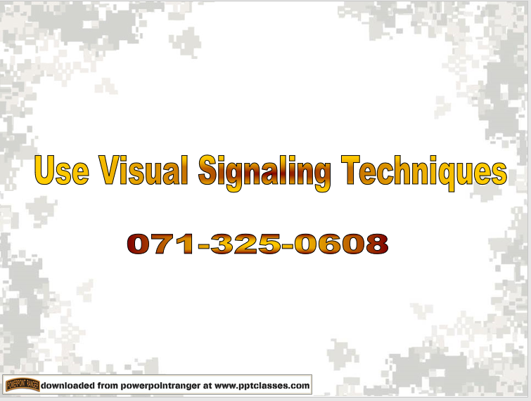 A power point class on Use Visual Signaling Techniques