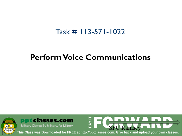 A power point class to perfom voice communications