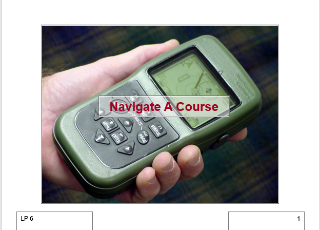 A power point class on Navigate using the Defense Advanced Global Positioning System (GPS) Receiver (DAGR)