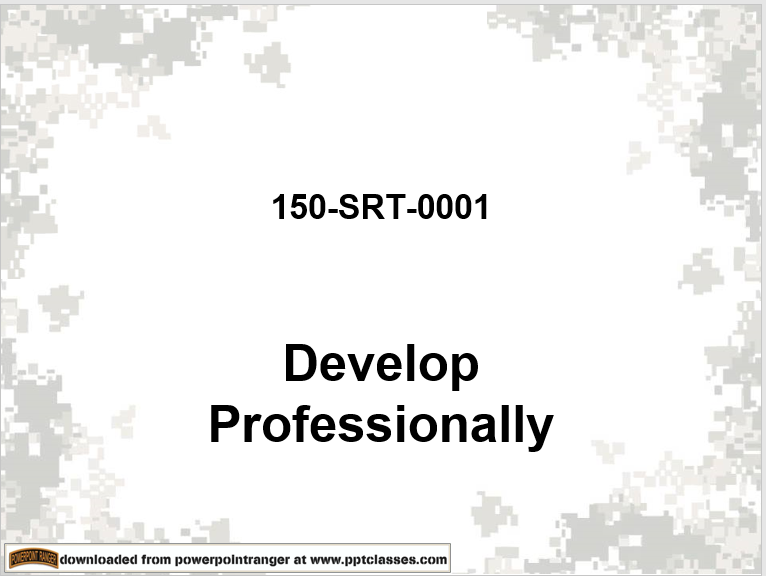 A power point class on how to Develop Professionally