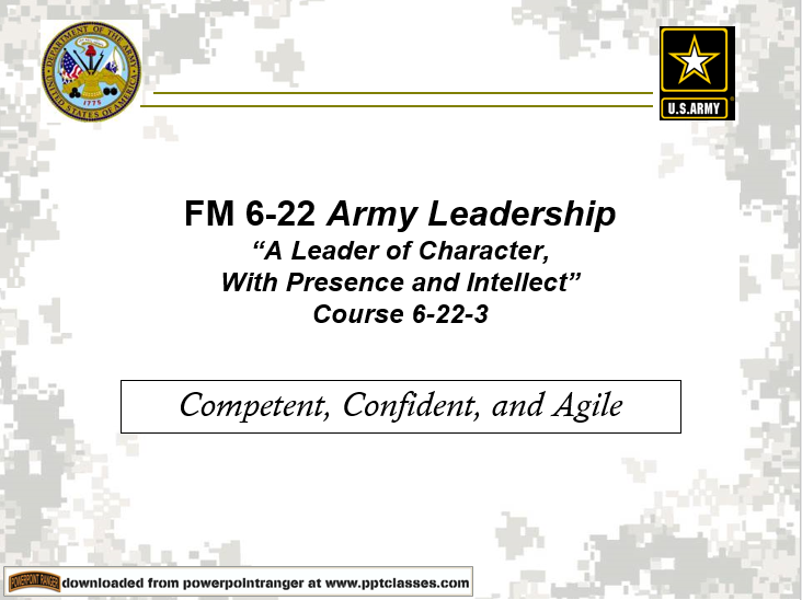 Army Leadership-Character(FM 6-22)