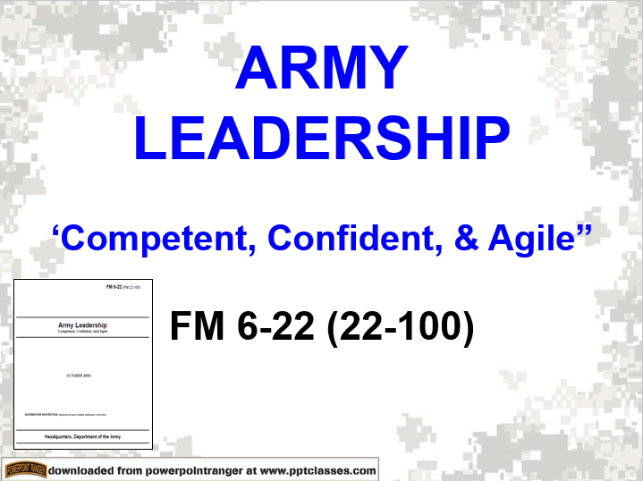 Army Leadership FM 6-22