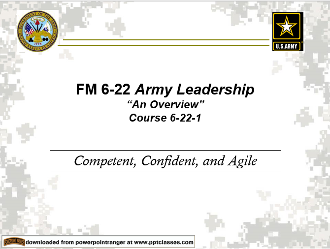 Army Leadership-Overview(FM 6-22)