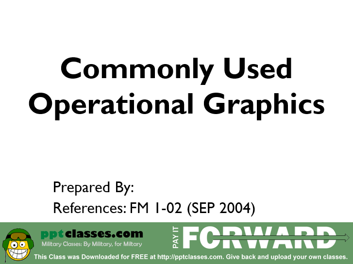 Commonly Used Operational Graphics