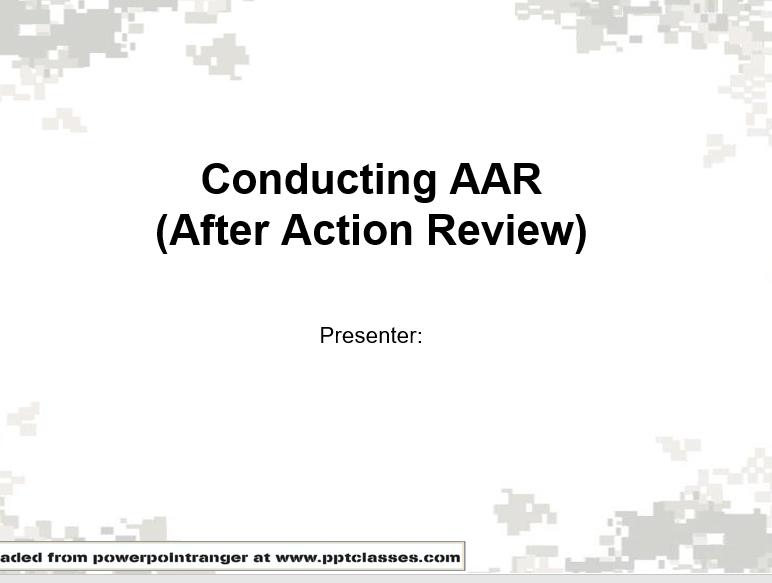 Conducting AAR