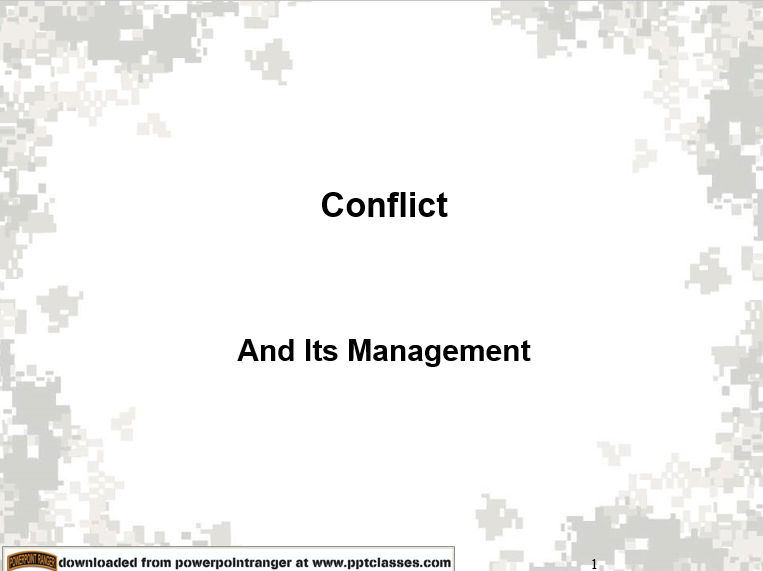 Conflict Resolutions