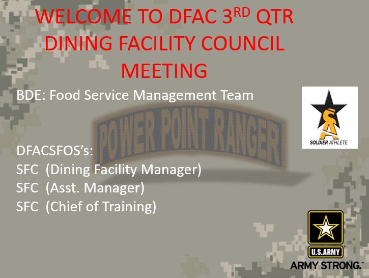 DFAC Council Meeting