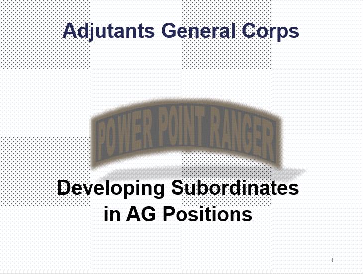 Develop Subordinates (AG)