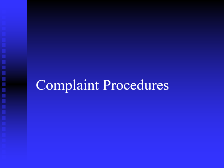 EO Complaint Policy