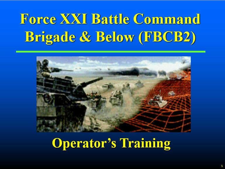FBCB2 Operator Training