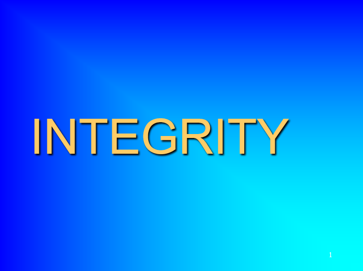 Integrity (Values)