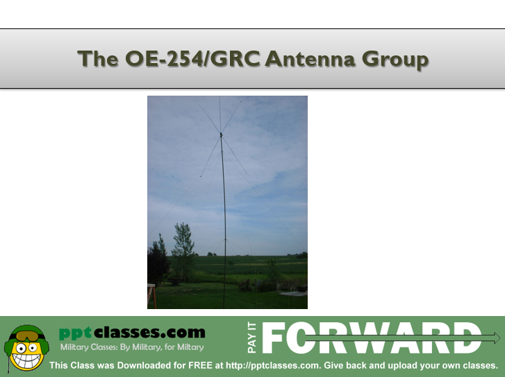 OE-254 Antenna set-up