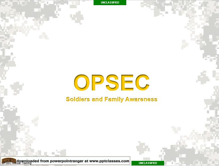 OPSEC Brief