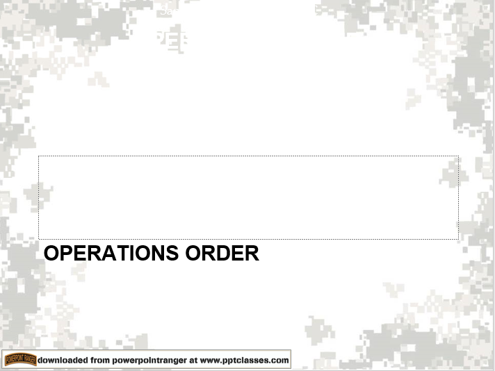 Operations Order