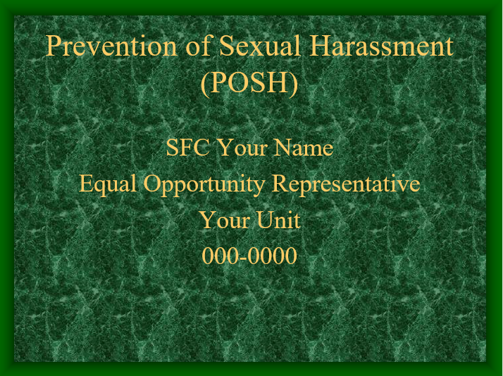 POSH and Sexual Harassment