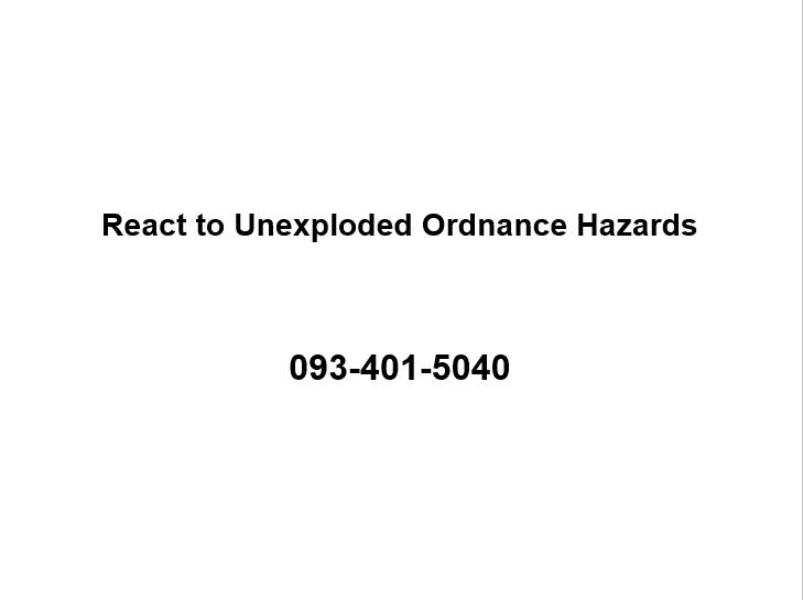 React to UXO Jan 08