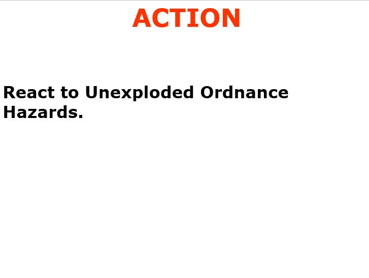 React to UXO