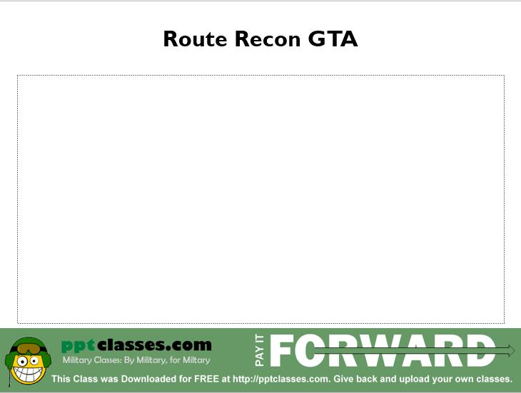 Route Recon