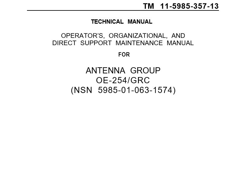 Setup an OE-254 Antenna Group