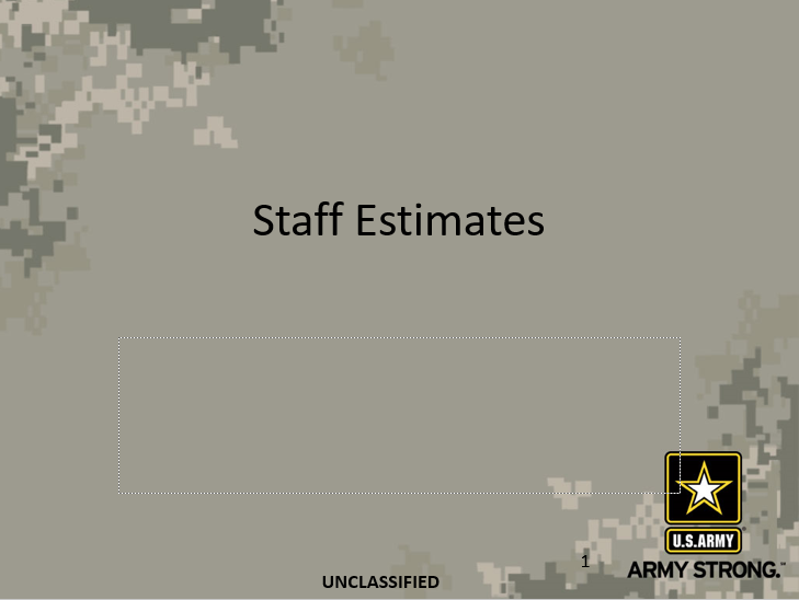 Staff Estimates