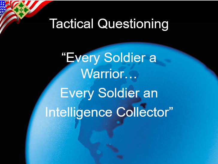 Tactical Questioning