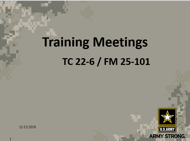Training Meetings