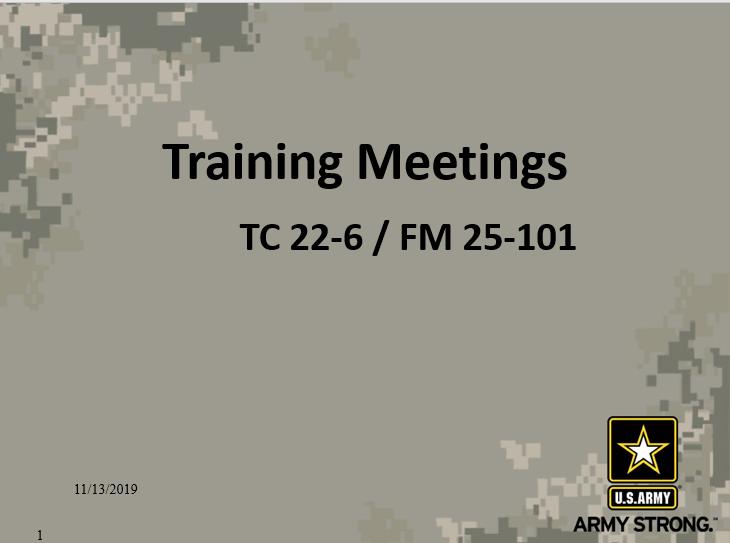 Training Meetings