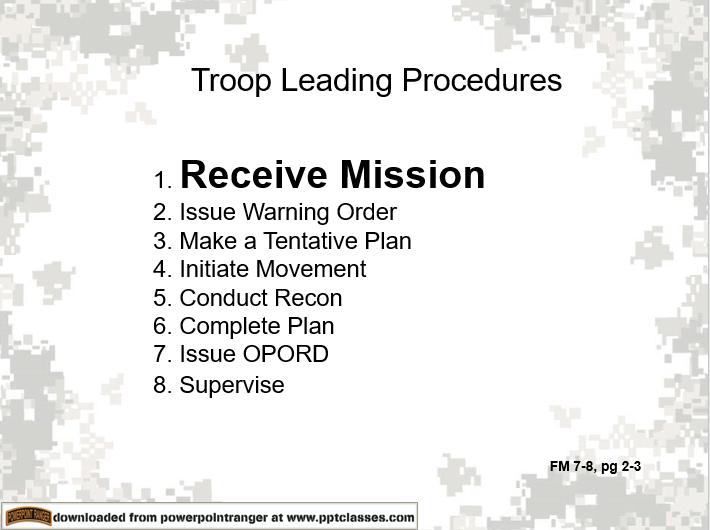 Troop Leading Procedures (TLP)