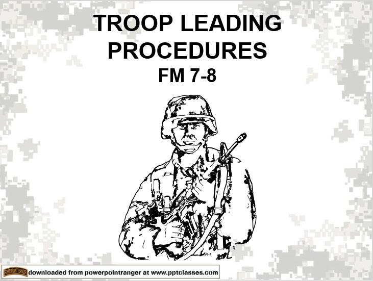 Troop Leading Procedures Version II