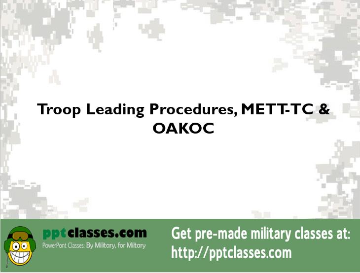 Troop Leading Proceduresjun2012