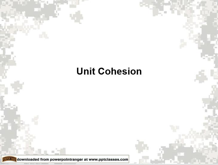 Unit Cohesion