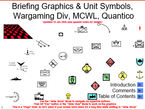 Wargaming and briefing graphics