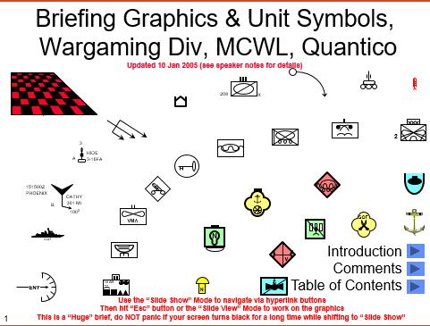 Wargaming and briefing graphics