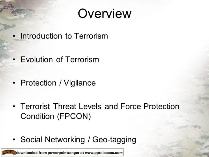 Antiterrorism Level I Training