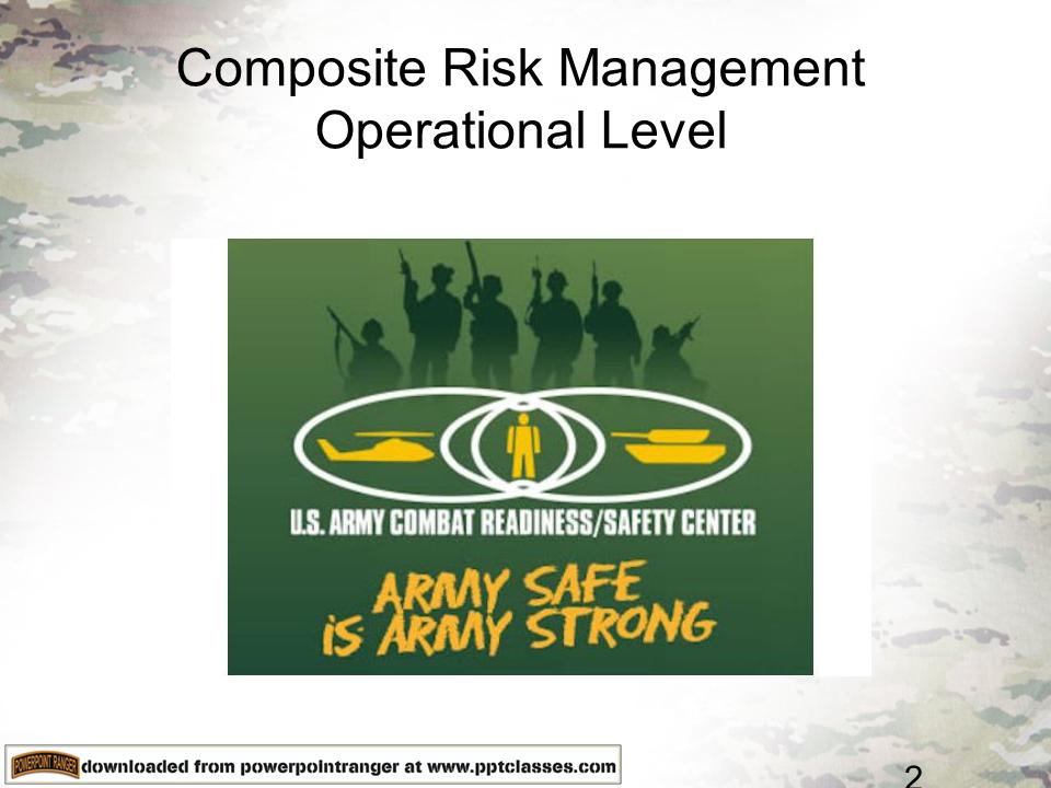 Composite Risk ManagementOperational Level