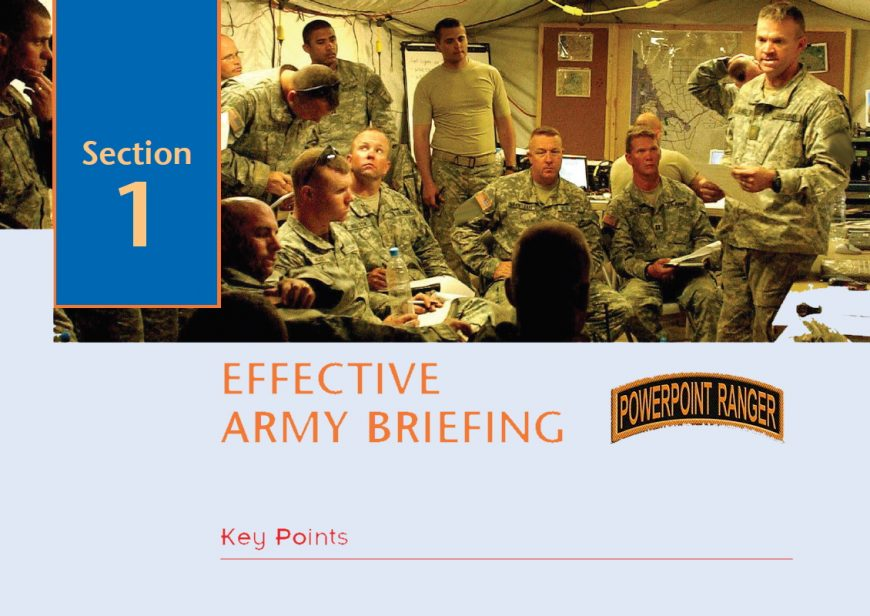 EFFECTIVE ARMY BRIEFING GUIDE (FREE)